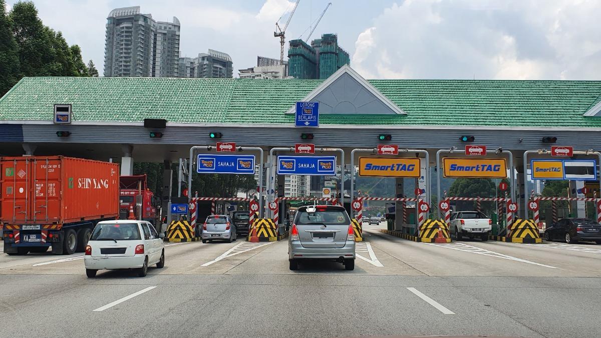 PLUS highway tollbooth