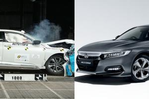 Honda Accord成2019-2020 ASEAN NCAP综合分数第一名,成绩几近完美