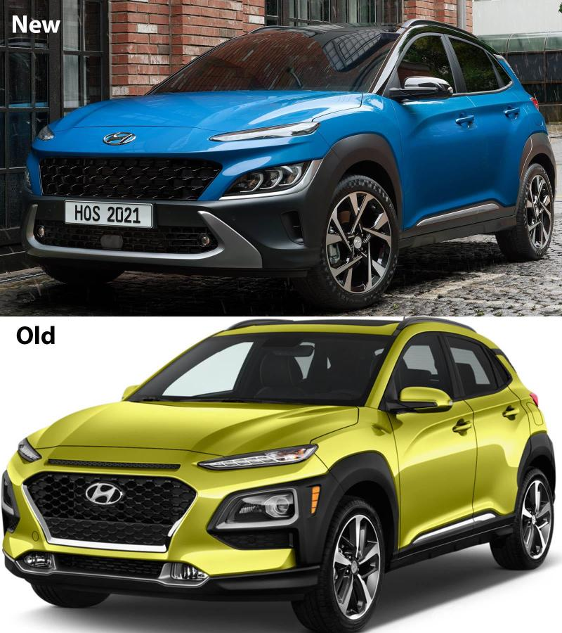 New facelifted Hyundai Kona vs pre-facelift, what's the difference? 02