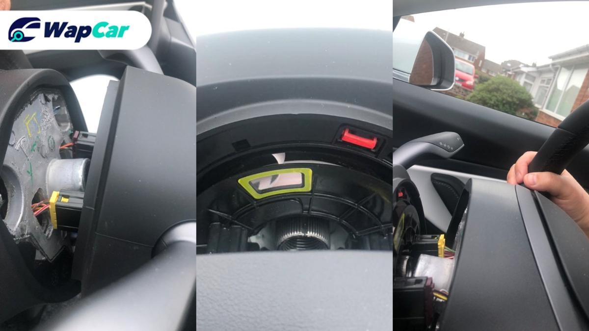 Tesla Model 3 steering wheel fell off