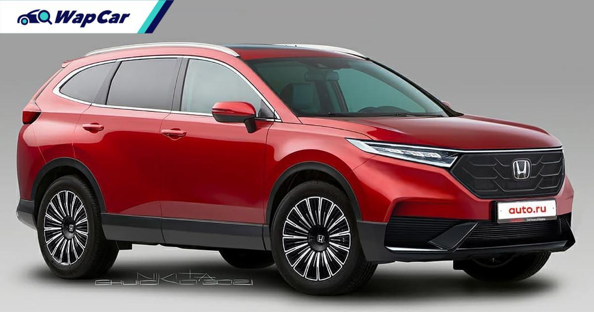 Rendered: All-new 2022 Honda CR-V – Inspired by the HR-V 01
