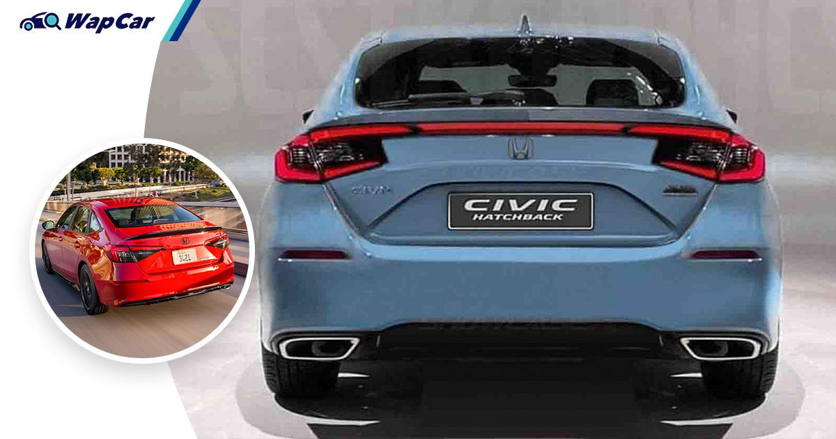 Leaked: 2022 Honda Civic Hatchback gets new booty, 180 PS, 240 Nm and 6-speed MT! 01
