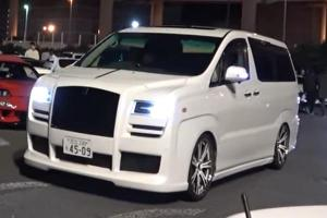 Someone in Japan modified aToyota Alphard to look like a Rolls Royce!
