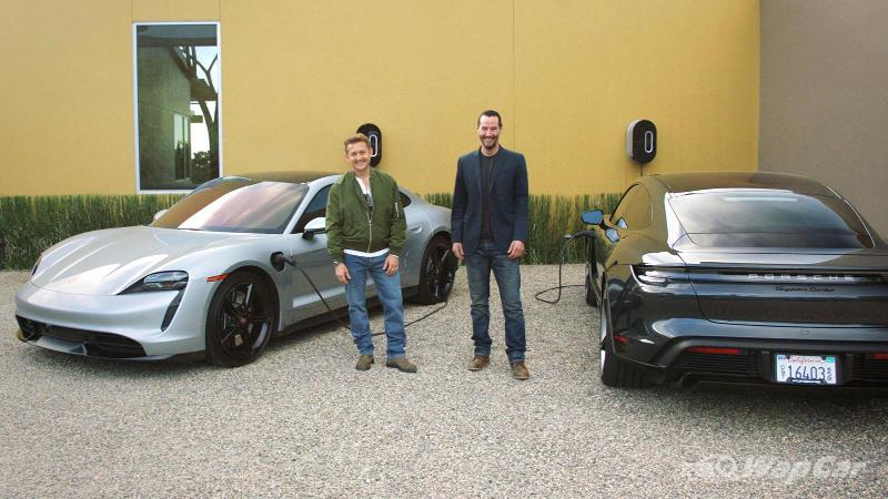 John Wick star Keanu Reeves ditches Mustang for Porsche Taycan, electric drifts ensue 02