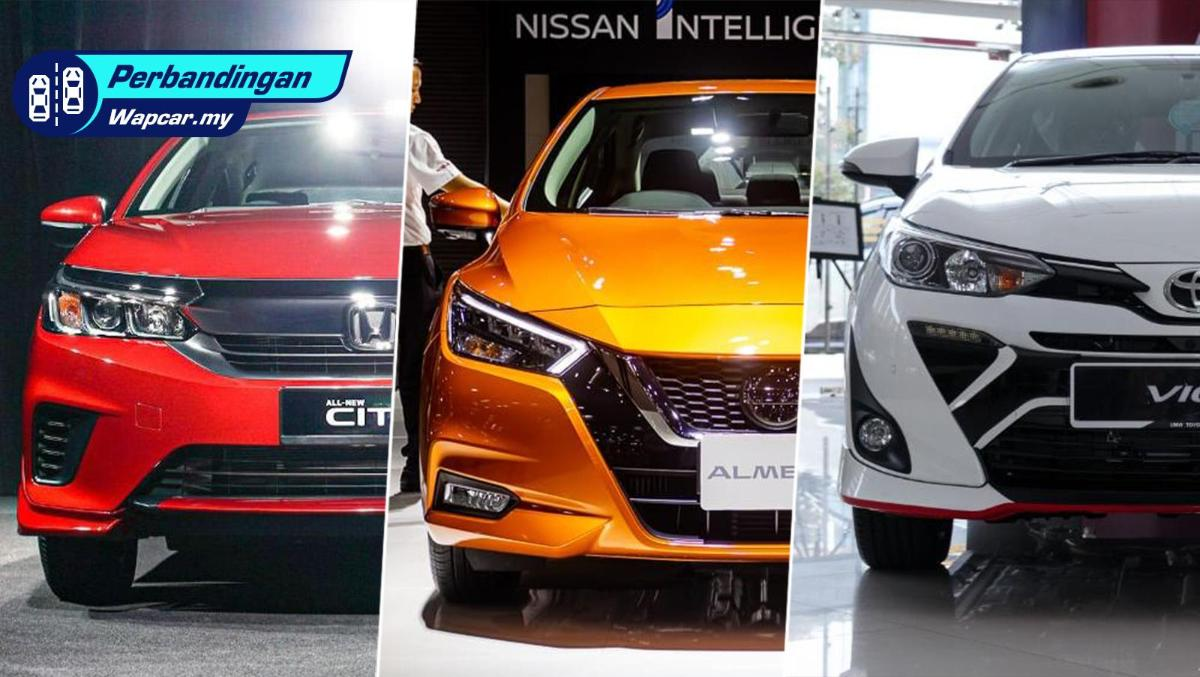 Perbandingan: Honda City RS vs Toyota Vios G vs Nissan Almera Turbo VLT. Saingan varian paling atas! 01