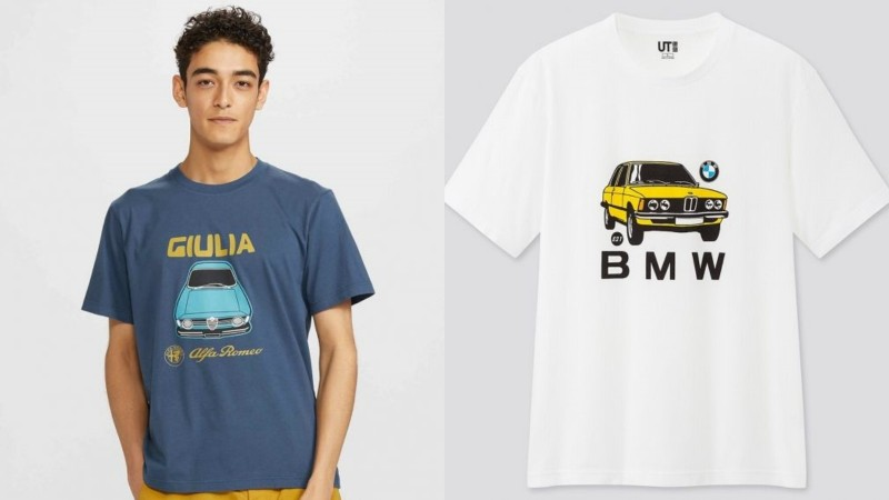 Are you a fan of BMW, Alfa Romeo or VW fan? Uniqlo has the perfect T-shirt for you! 02