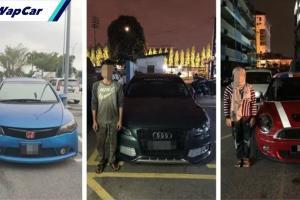 Padah menggunakan kereta klon, 3 individu ditahan!