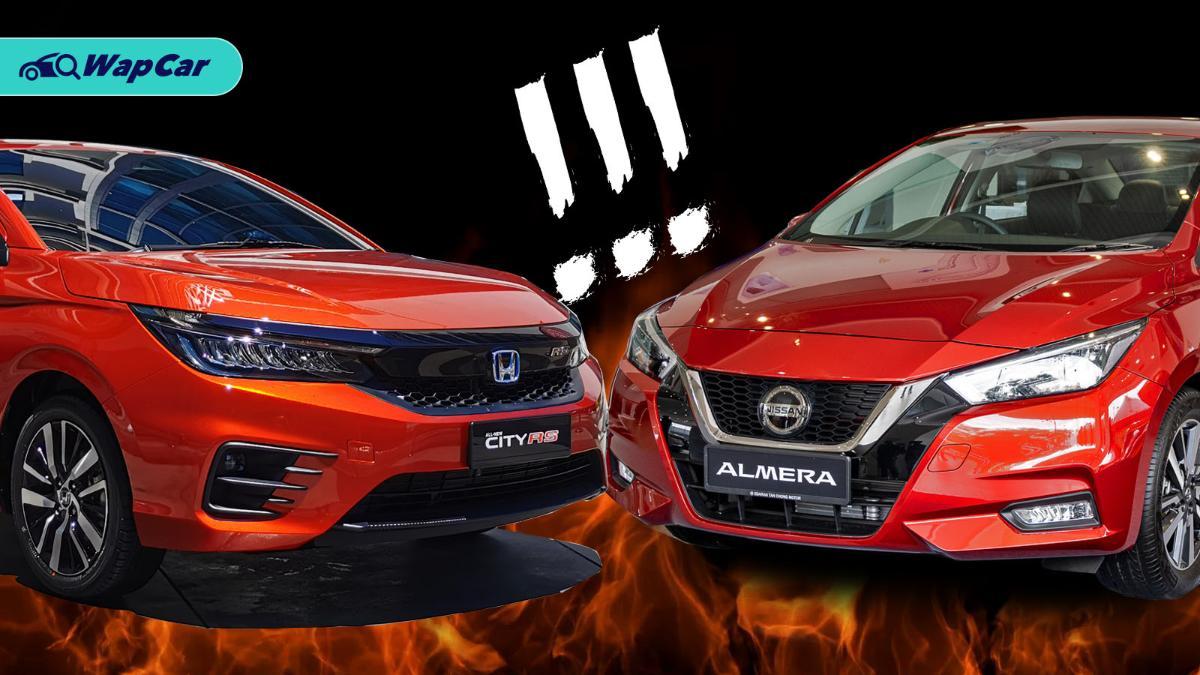 Nissan Almera vs Honda City, should you pick turbo or hybrid? 01