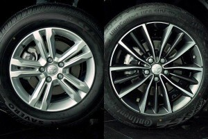 Do larger wheels and lower profile tyres give better performance?