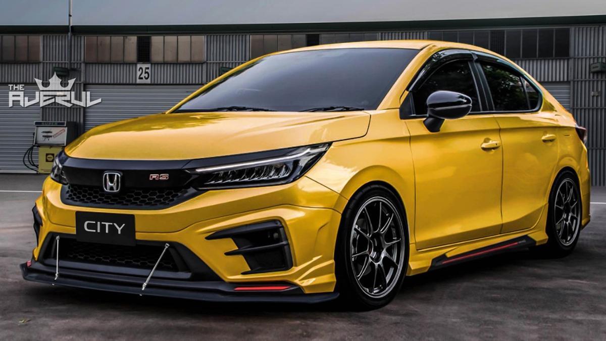 Lakaran Honda City 2020 dengan kit badan dan rim yang agresif! 01