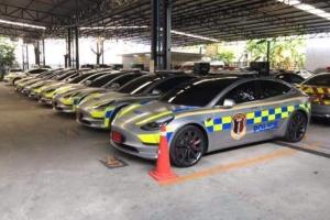 Royal Thai Police adds Tesla Model 3 to their fleet