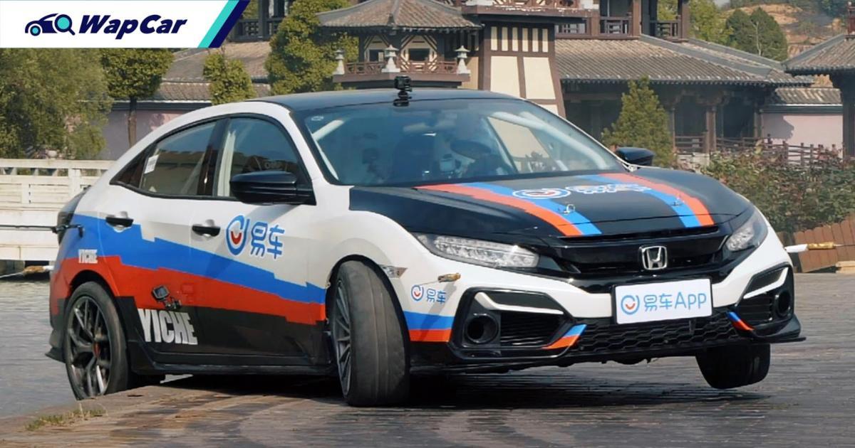 Watch as this Chinese girl drift a 2JZ, RWD Honda Civic Hatchback 01