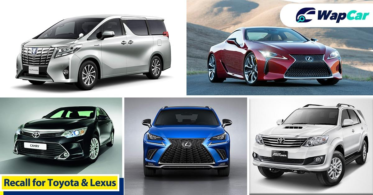 Attention Toyota and Lexus owners! UMW Toyota Motor announces recall for 13,500 unit of cars - possible fuel pump issue 01