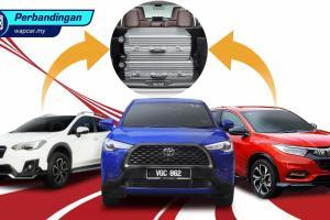 Toyota Corolla Cross vs Honda HR-V vs Subaru XV - bonet mana boleh sumbat banyak barang?