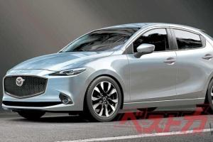 Rendered: Next gen Mazda 2! New 3-cyl mild hybrid to debut in Sept. 2021?
