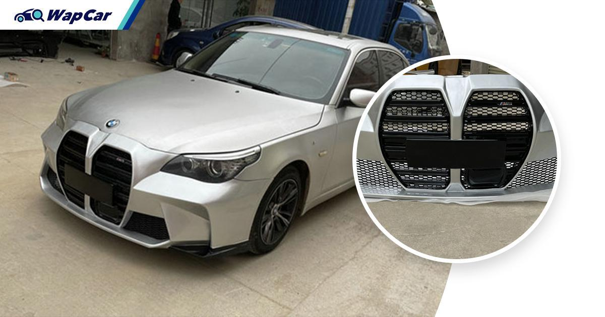 Want to stand out in your E60 BMW 5 Series? Give it the M3/M4's massive grille 01