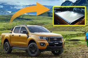 2021 Ford Ranger Wildtrak's power roller shutter - here's how it works!