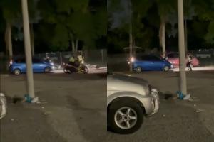 Pasangan panik disergah polis, langgar dan heret polis atas Perodua Alza sejauh 150 meter!