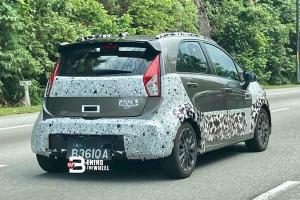 Spyshot: New taller ride height 2021 Proton Iriz Active coming