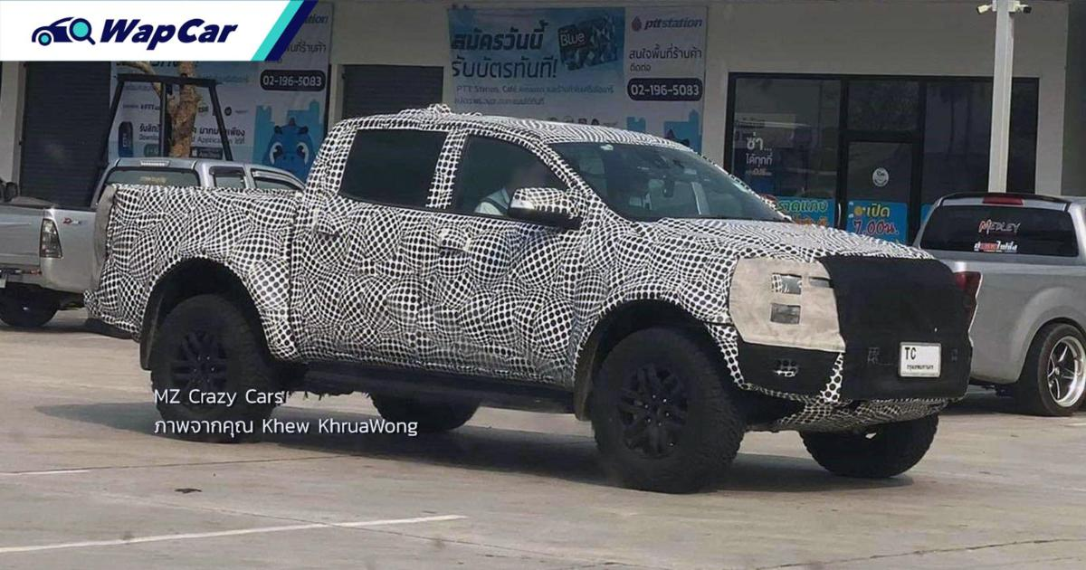 Spied: New Ford Ranger Raptor spotted in Thailand, all-new or facelift? 01