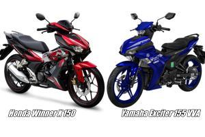 Yamaha Exciter 155 VVA vs Honda Winner X. Susahnya nak buat pilihan!