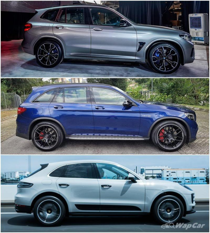 Specs comparison: 2020 BMW X3 M Competition vs Mercedes-AMG GLC 63 S 02
