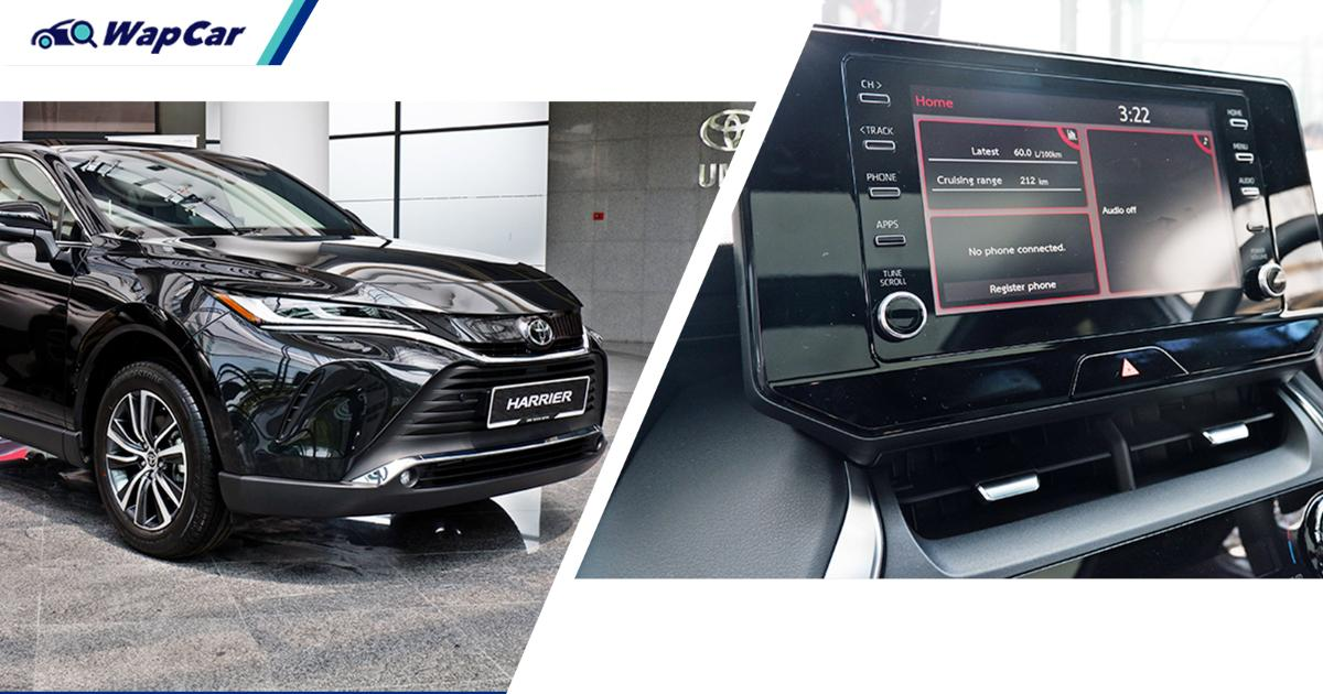 Not just Malaysia, even Singapore's Toyota Harrier uses a cheaper infotainment, here's why 01