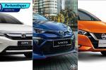 Perbandingan: Honda City V vs Nissan Almera VLP vs Toyota Vios E. Varian pertengahan manakah yang paling baik?