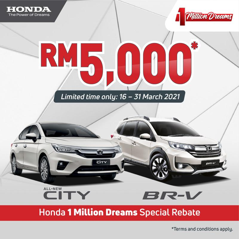 Shopping for a Vios? Honda wants to give you RM5k in rebates for Honda City and BRV 02