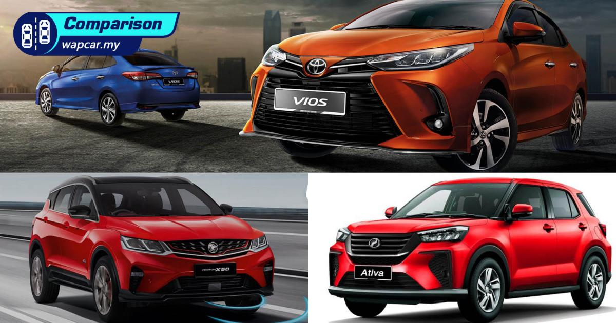 Which is a better buy? Perodua Ativa (D55L) vs Proton X50 vs Toyota Vios 01