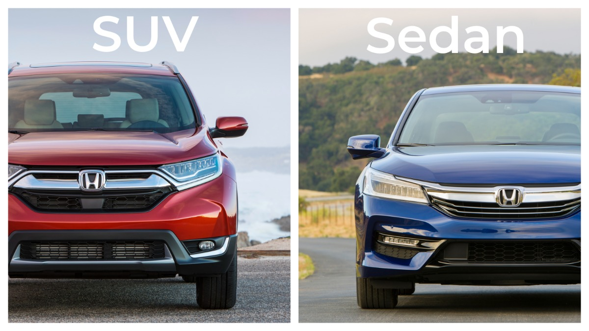 Honda CR-V and Accord front