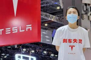 Failed brakes spark protest at Tesla's booth in 2021 Auto Shanghai