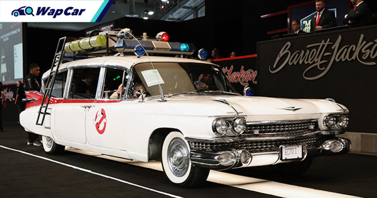 Inspired by Ghostbusters, this Cadillac Ectomobile replica sold for RM 990k! 01