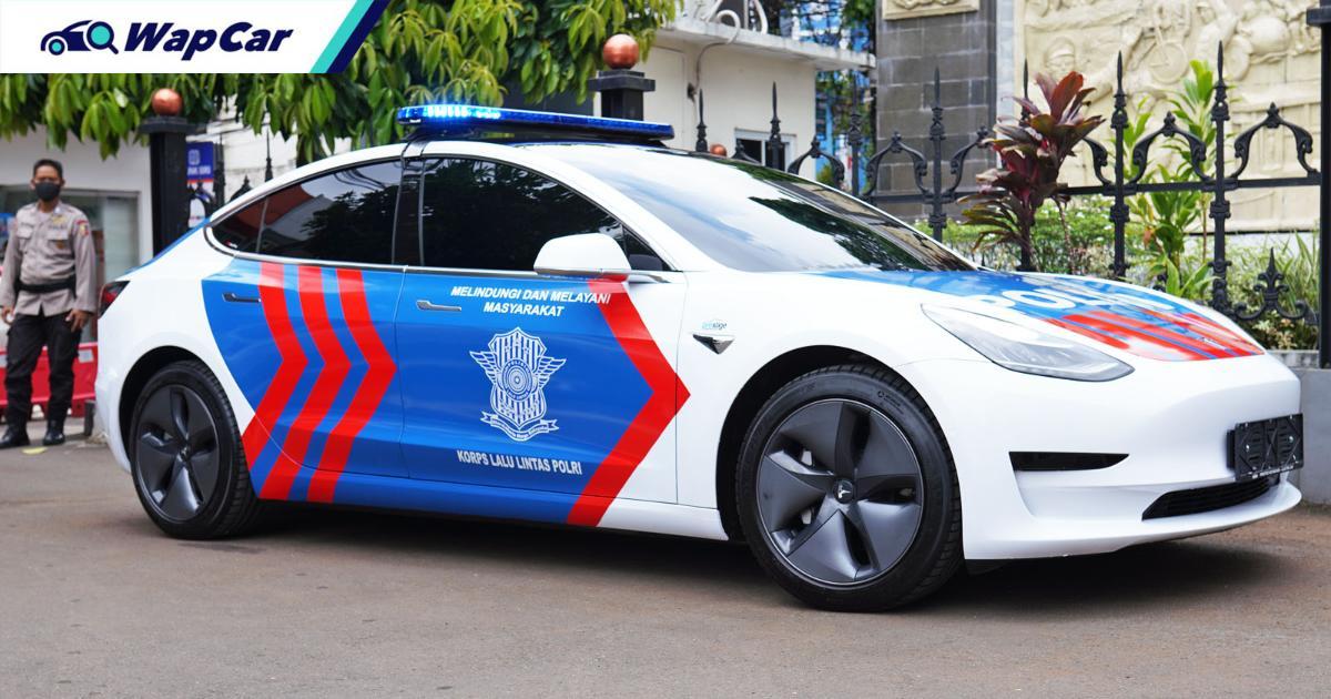 Tesla Model 3 joins Indonesian Police fleet in effort to promote EVs 01