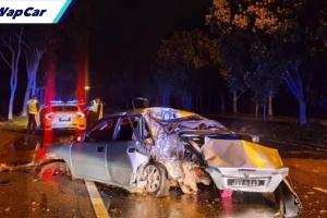Proton Waja langgar pokok ketika dikejar polis, pemandu maut