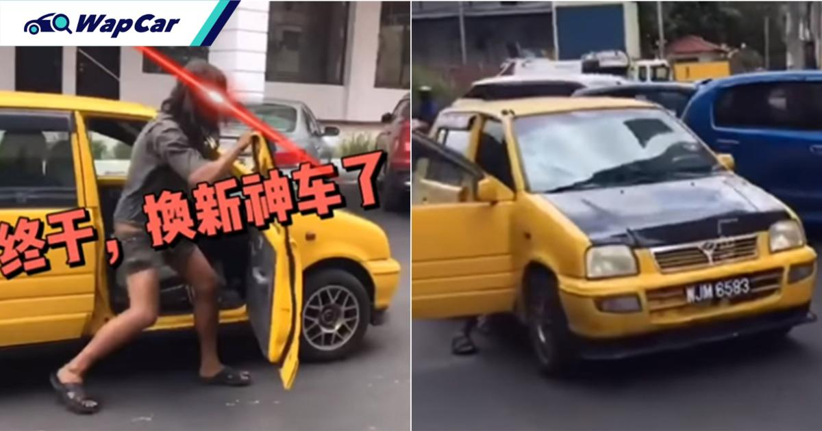 He's back with yet another thrashed-up Perodua Kancil! Where does he keep getting them? 01