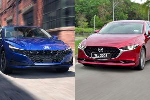 2021 Hyundai Elantra vs Mazda 3 Sedan 1.5:韩国车的逆袭?