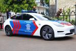 Tesla Model 3 joins Indonesian Police fleet in effort to promote EVs