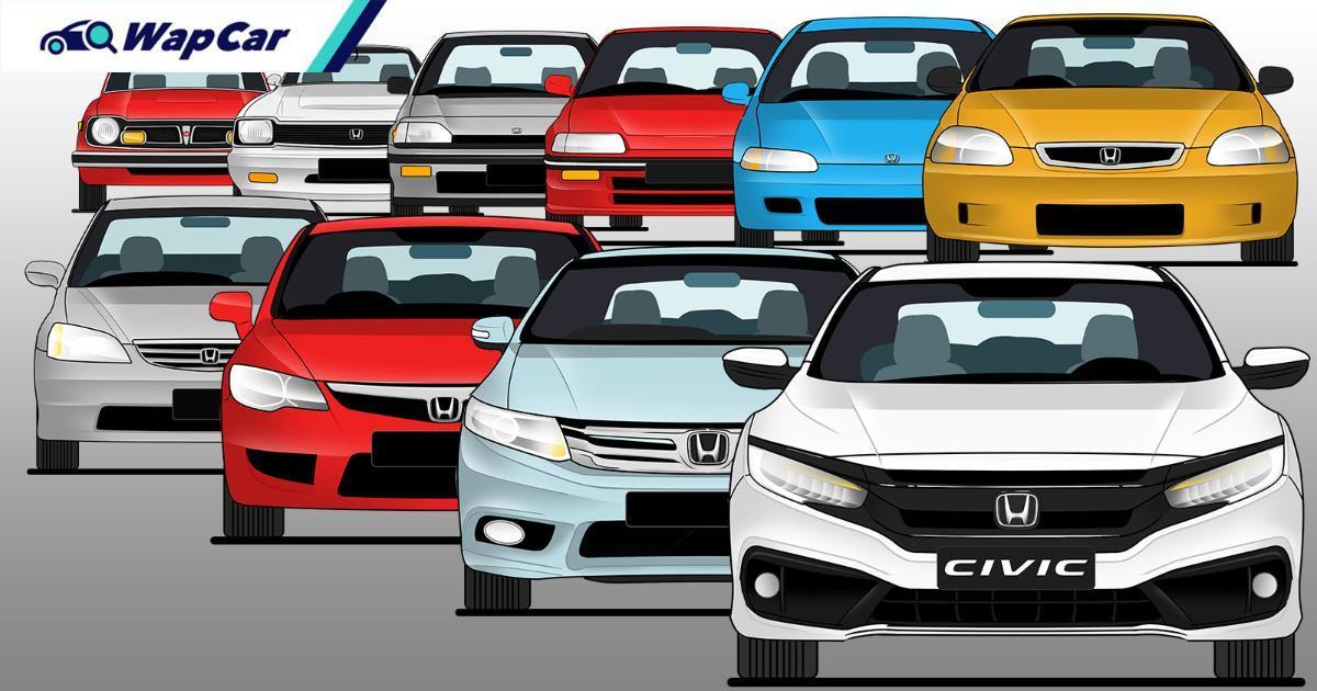 Honda Civic di dalam 10 generasi – warisan Honda yang terhebat? 01