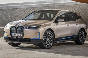 2021 BMW iX is an X5-sized EV with 600 km range, 500 PS, and a massive grille that it doesn't need