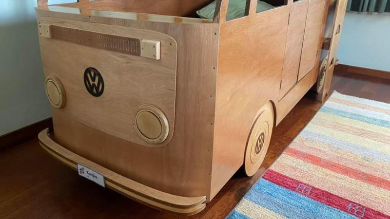 This Malaysian dad built his sons a VW Kombi bus bunk bed. It's now on sale 02