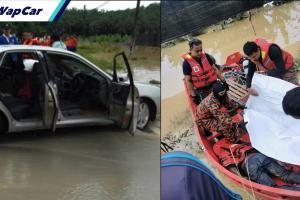Pemandu Proton Waja, Perodua Axia hanyut dalam arus banjir di Kluang akhirnya ditemui