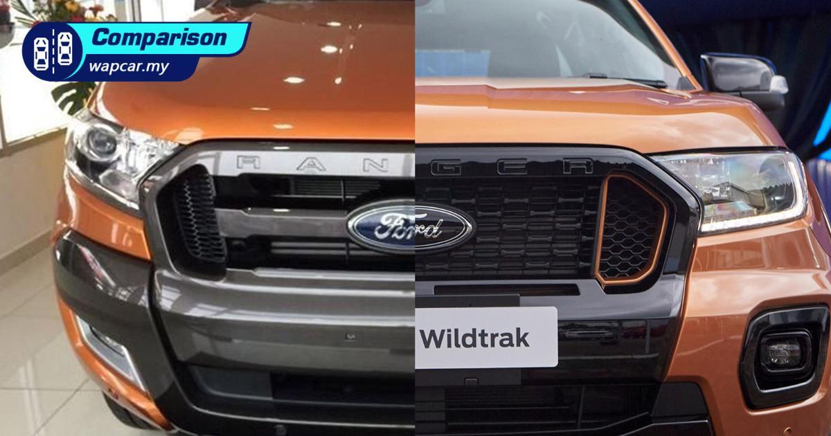 New vs Old – 2021 Ford Ranger Wildtrak facelift vs pre-facelift 01
