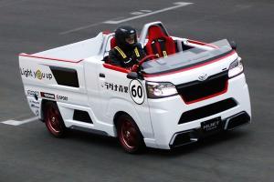 The Daihatsu Hijet Sporza is a RWD drifting pasar malam truck
