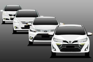 Evolution of the Toyota Vios in 3 generations - The best family saloon for the masses?