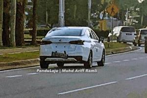 Spied: 2020 Nissan Almera in white, spotted again in Putrajaya!
