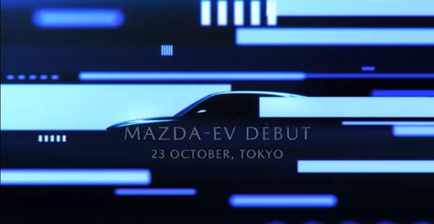 Mazda EV Teaser at Tokyo Motor Show