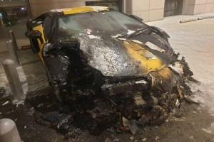 Lamborghini Aventador caught fire in Pavilion parking lot. RIP another Lambo