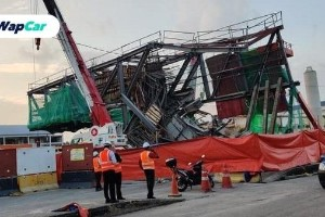 Struktur LRT3 runtuh di Klang, jalan tutup 5 hari