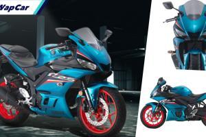 Yamaha YZF-R25 2021 di Malaysia dapat warna baharu, Cyan Metallic